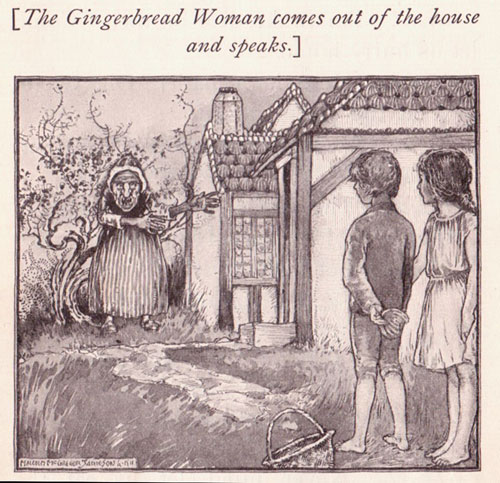old illustration from Grimm's fairy tales