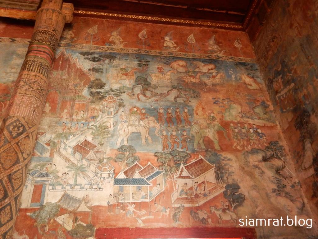 Ajatasatru's army mural