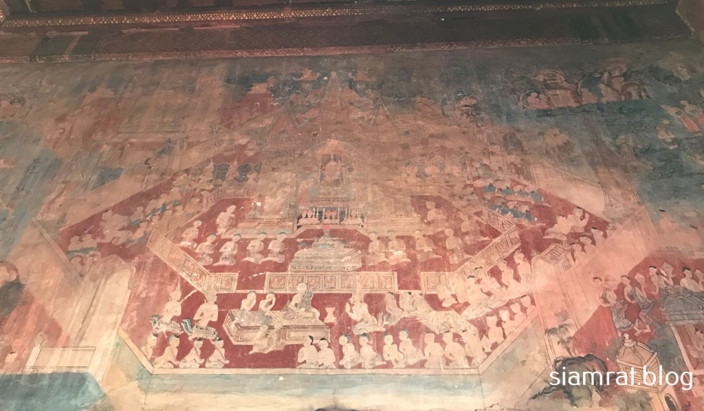 buddha relics mural