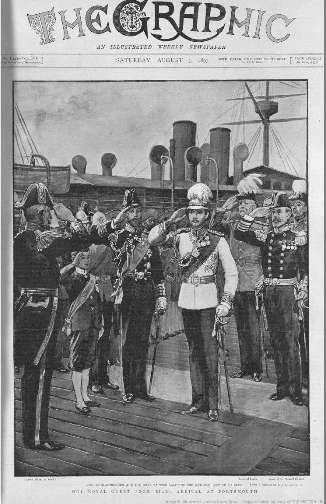 king arrives in portsmouth