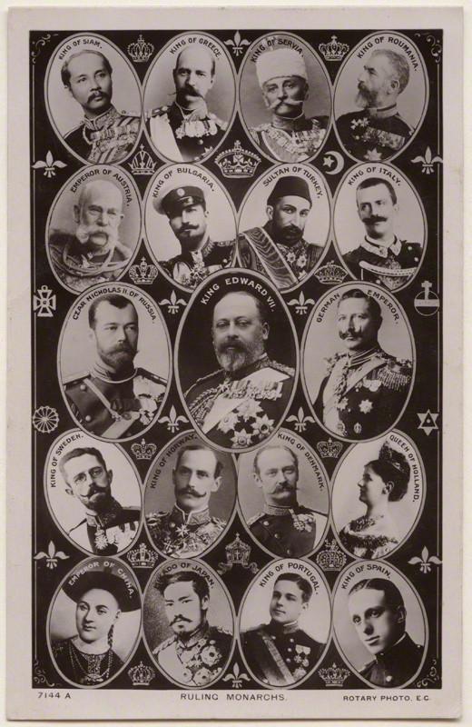 ruling monarchs postcard