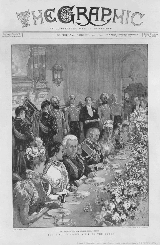 king dines with queen victoria