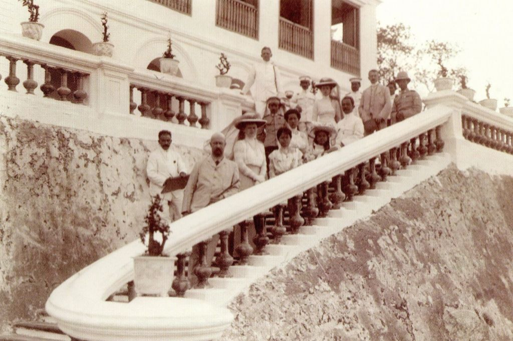 guests on staircase
