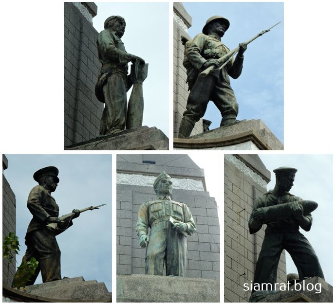 statues of military figures